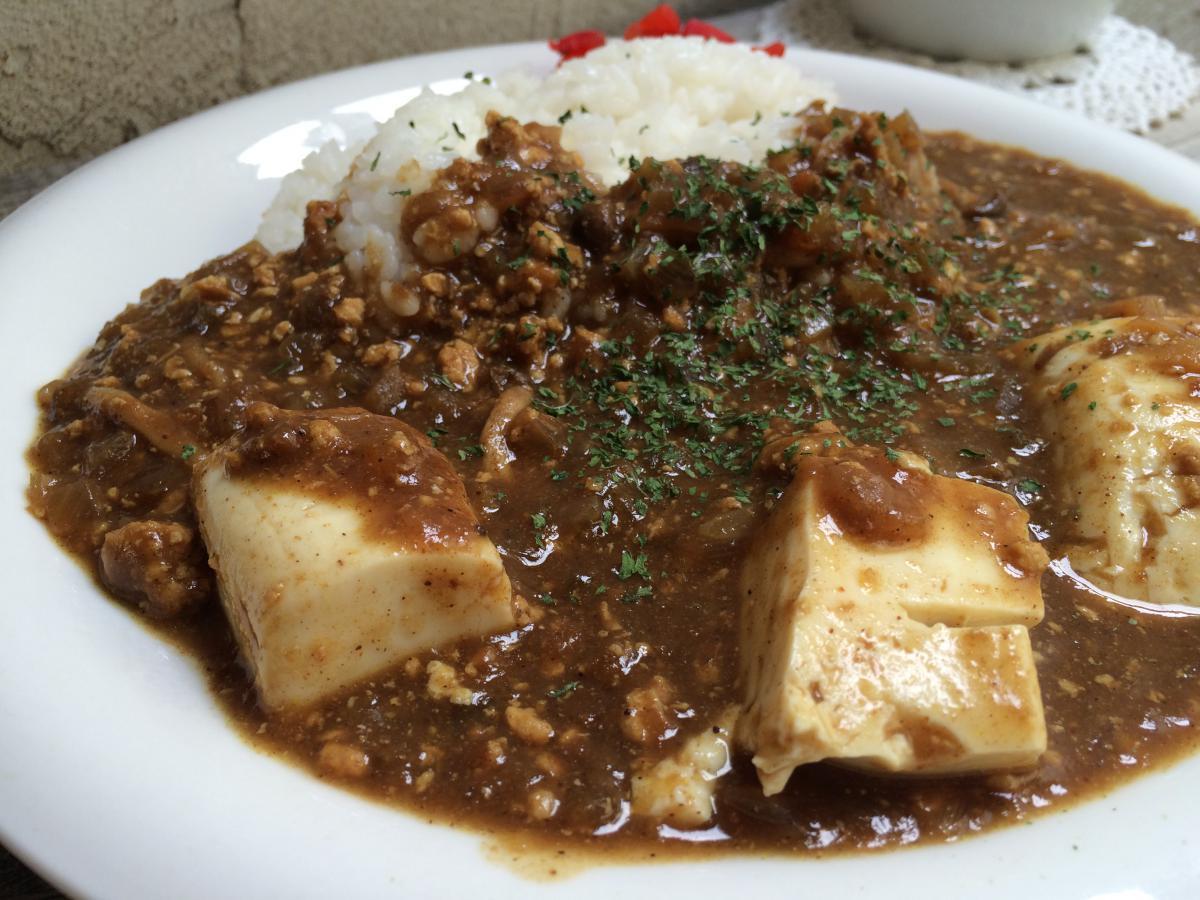 鶏ミンチと筍の豆腐カレー