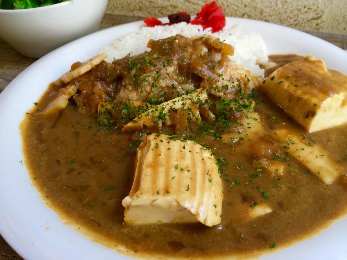ふわふわ豆腐と筍のカレー