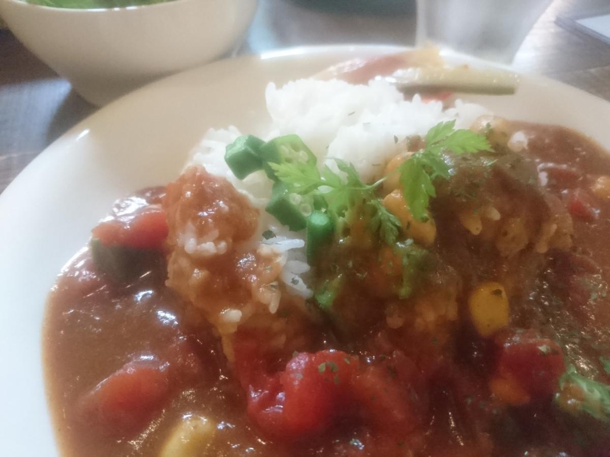 トマトとオクラと豆のカレー 11 -1