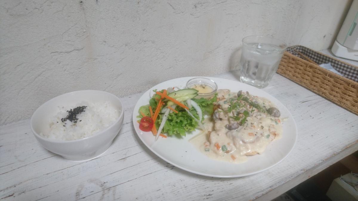 チキンのソテー クリームソースのプレート 13 -3