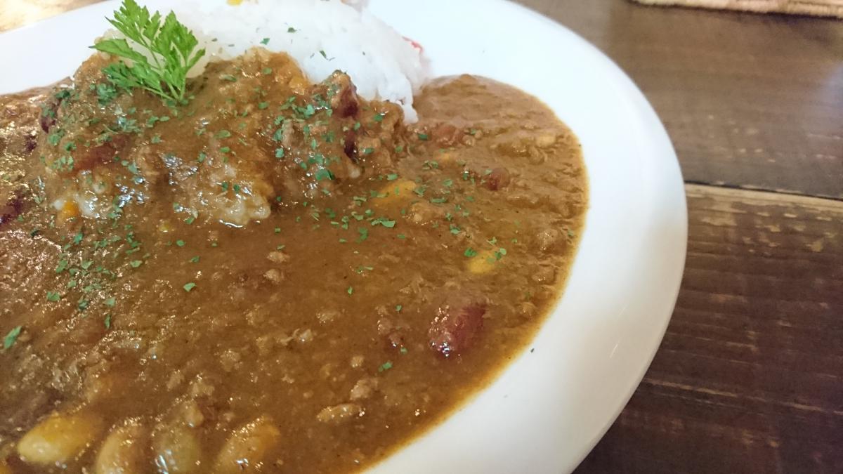 豆を煮込んだひき肉カレー 18 -1