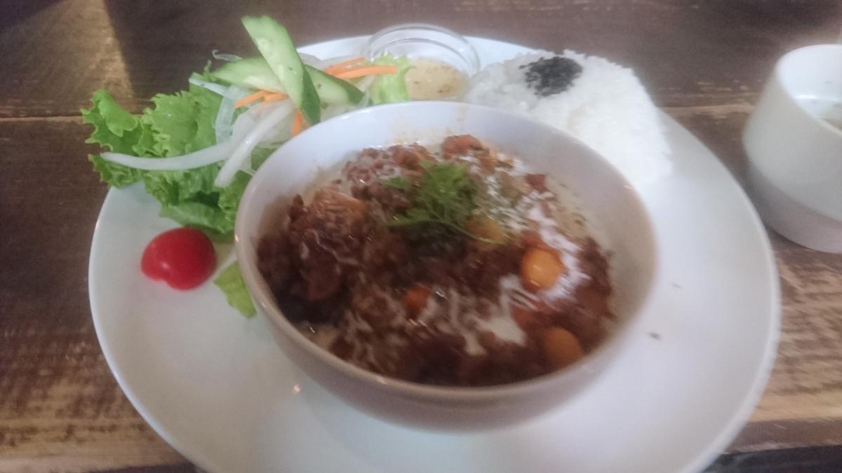 豆とひき肉のチリコンカンのプレート 1 -2