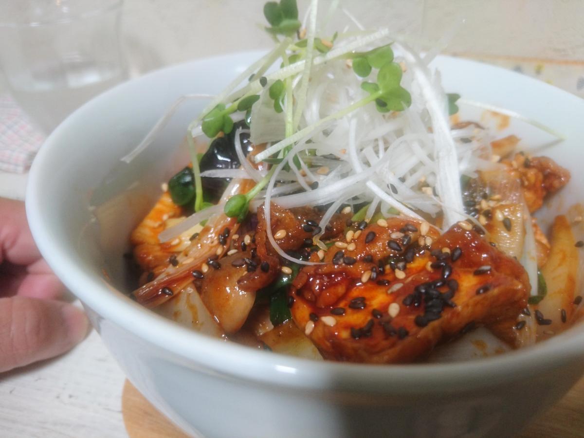 ナスと豚肉の辛味噌炒め丼 25 -2
