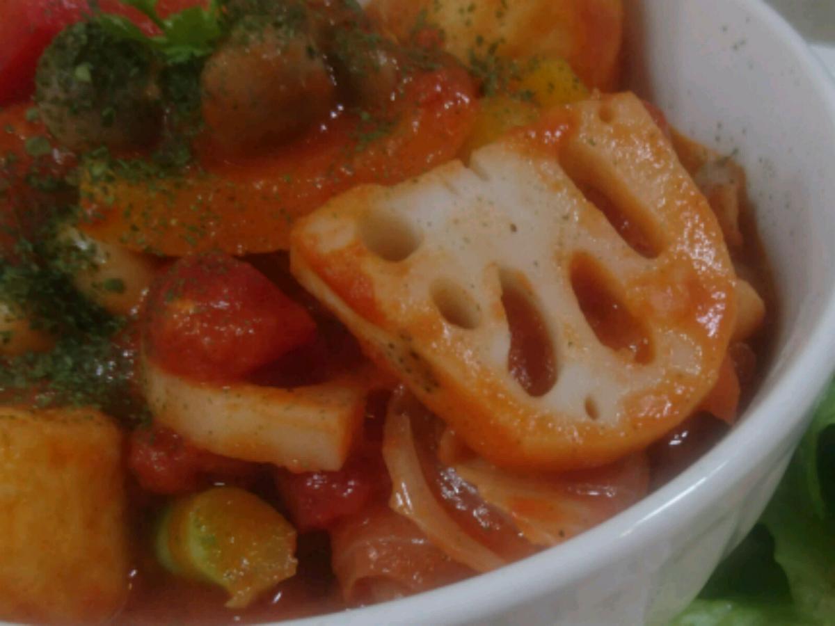 チキンと野菜のトマトクリーム煮のプレート 2 -3