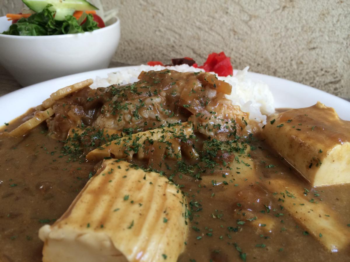 ふわふわ豆腐と筍のカレー 3 -1