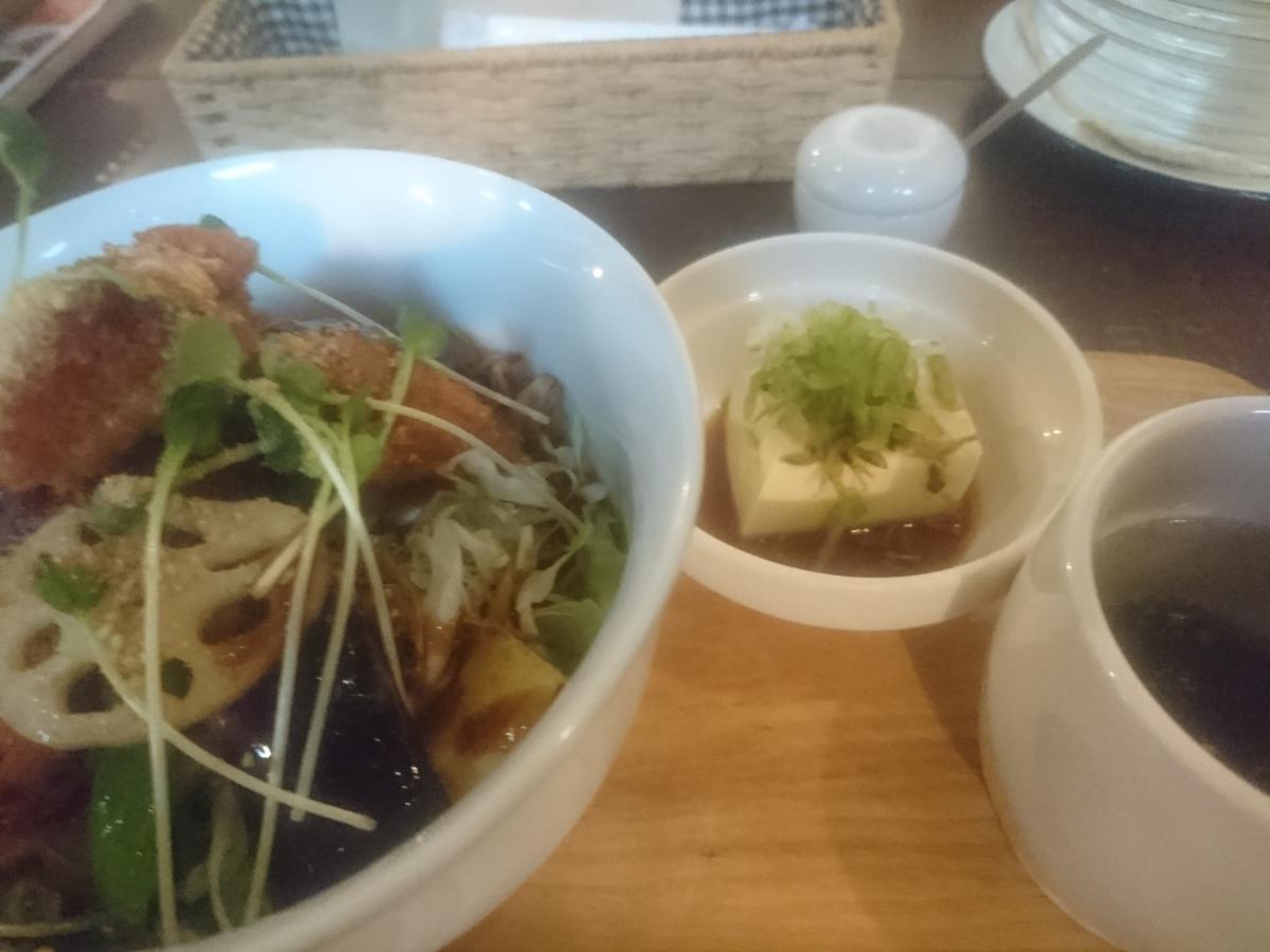 鶏もも肉と野菜のソースカツ丼 48 -2