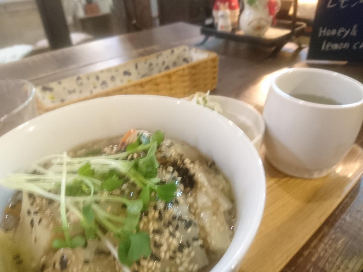 たっぷり野菜の鶏みそあんかけ丼 58 -3