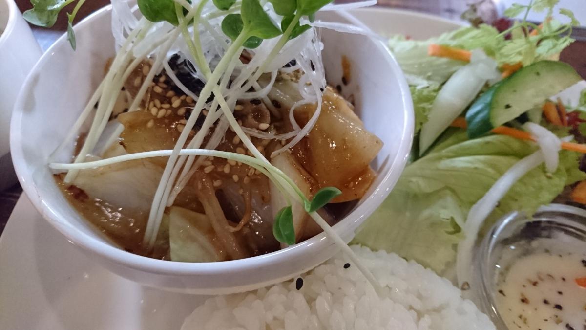 豚肉と野菜の生姜焼きのプレート 64 -2