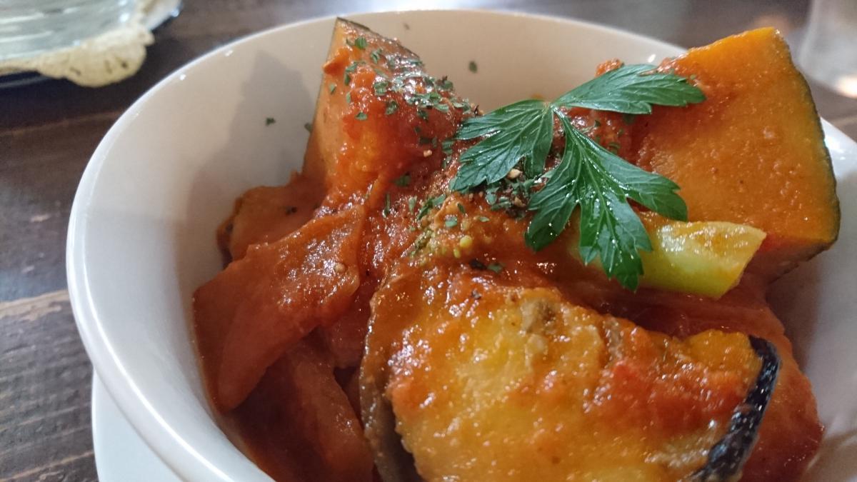 豚バラと野菜のトマトクリーム煮のプレート 67 -3