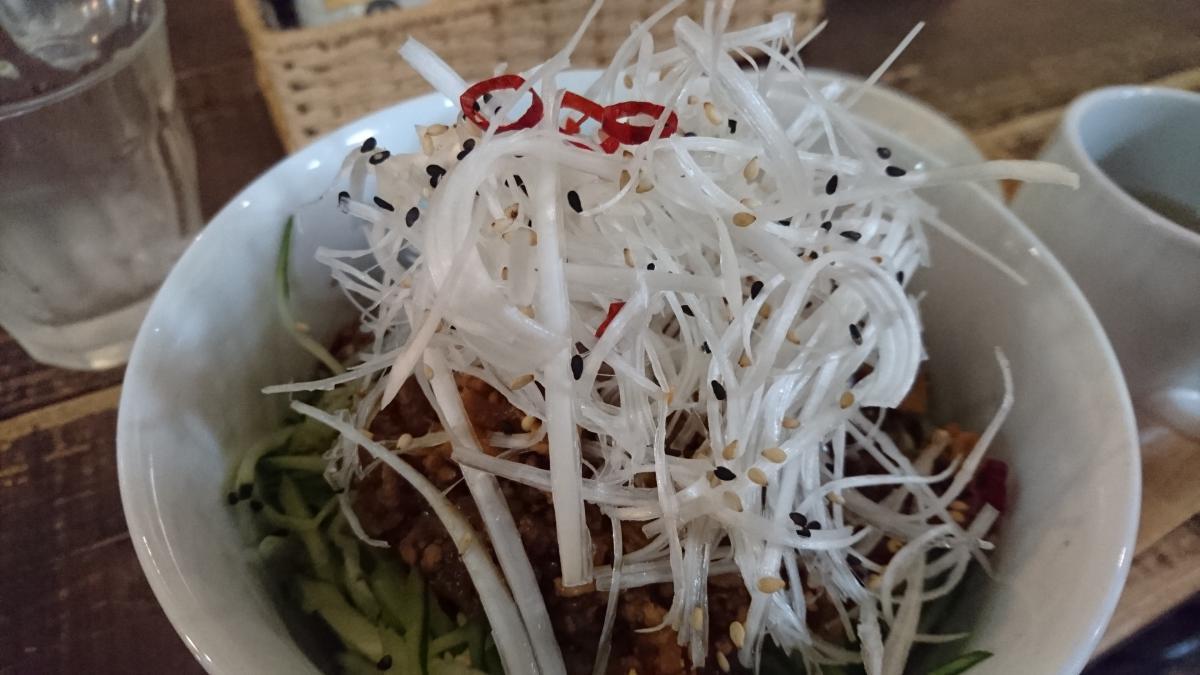 白髪ねぎと肉味噌のジャージャー丼 70 -2