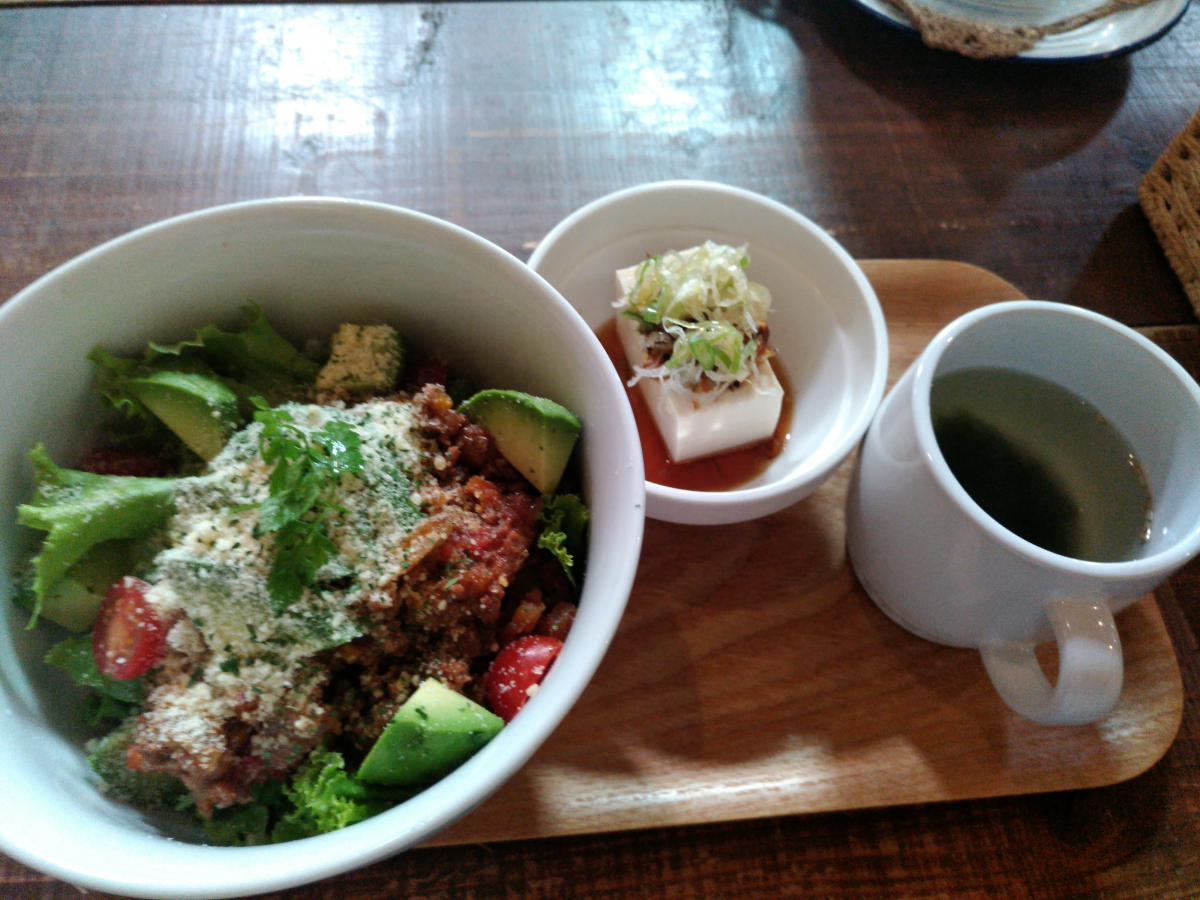 アボカドとひき肉のタコライス丼 72 -3