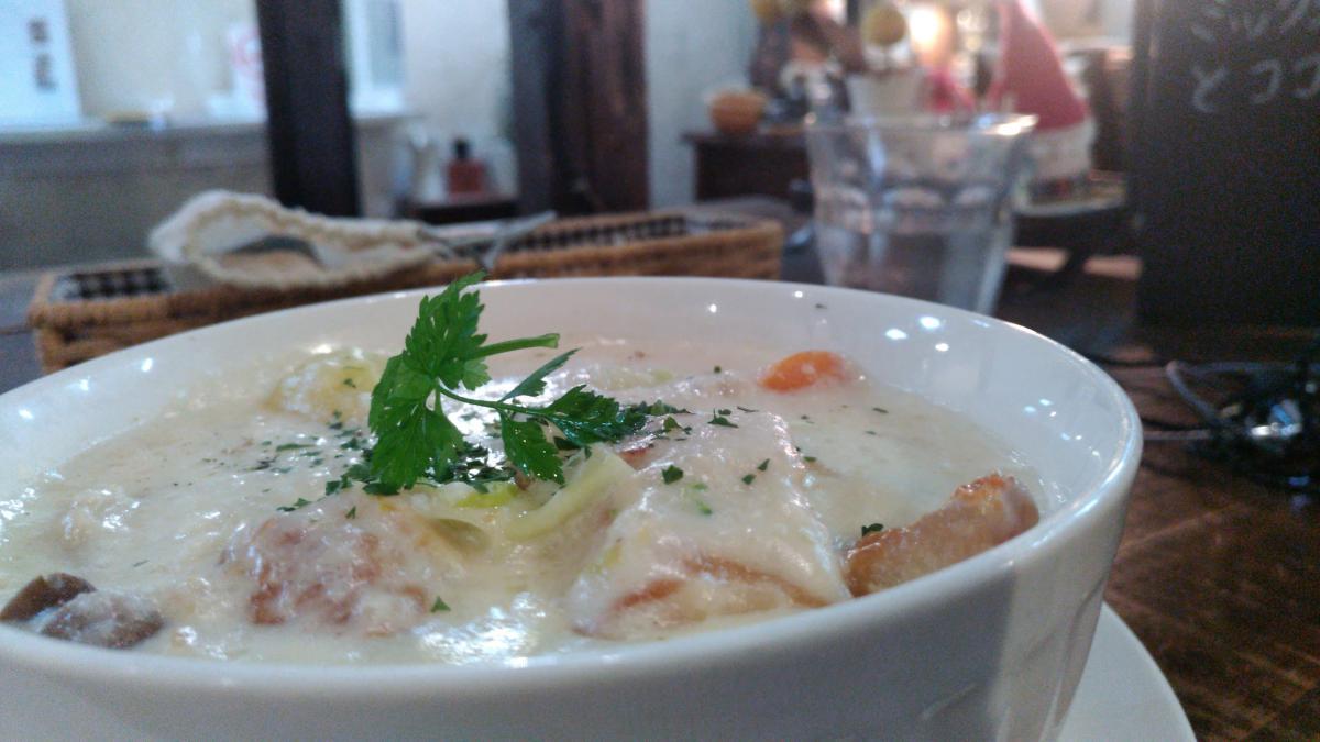 チキンと野菜のクリーム煮のプレート 75 -1