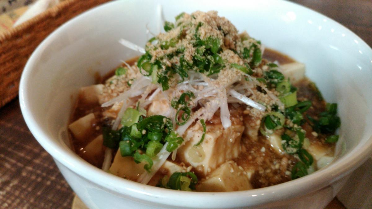 山椒と葱のマーボー豆腐丼 76 -2