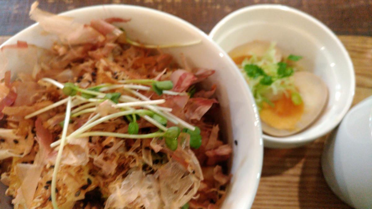 豚肉とキャベツの和風おかか丼 80 -2