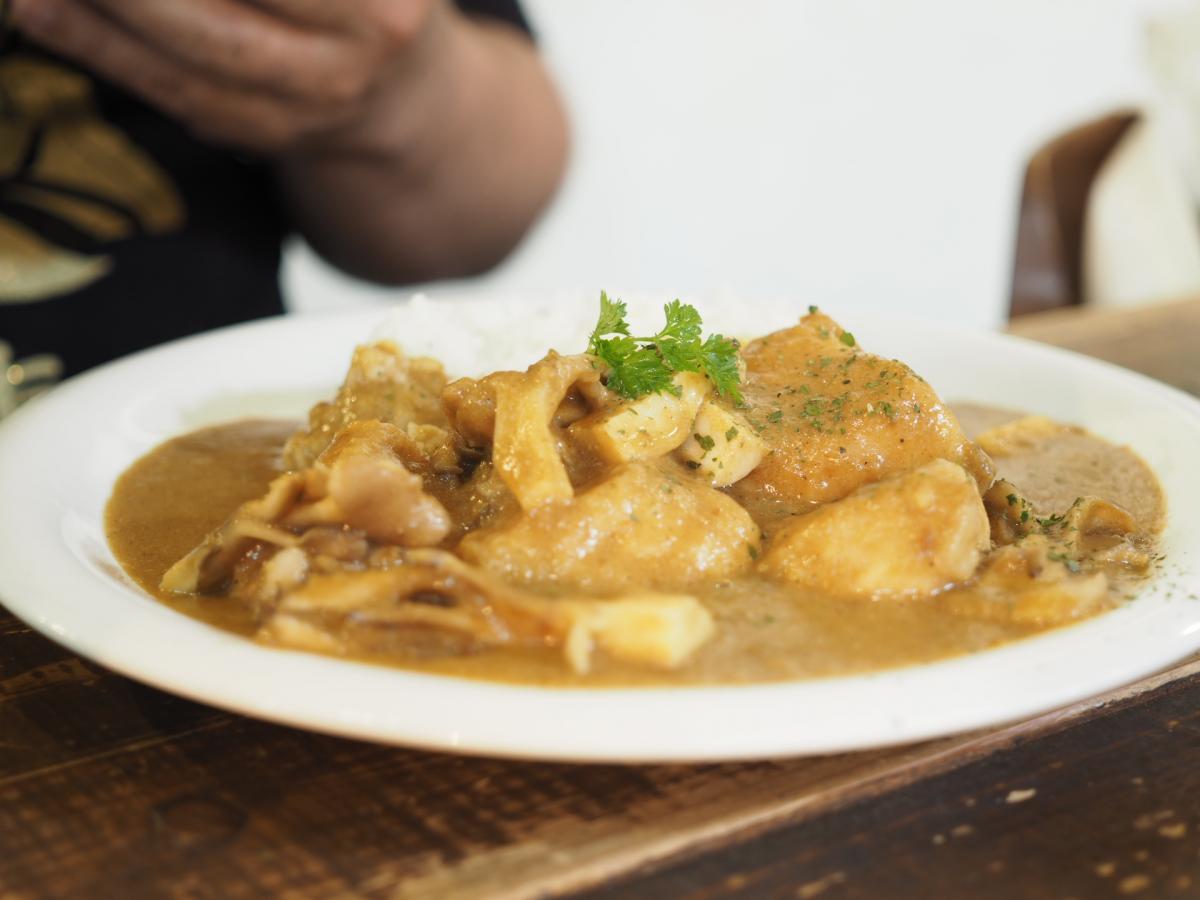 チキンとキノコの豆乳カレー 83 -1